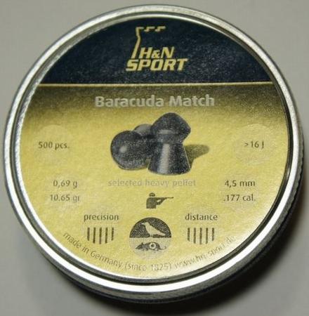 Luchtbuks kogeltjes Baracuda Match