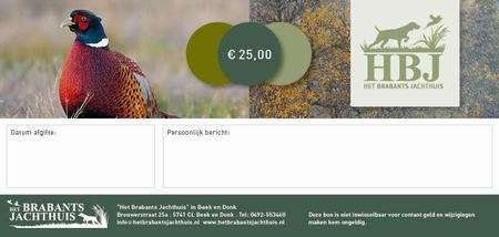 Cadeaubon HBJ € 25