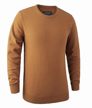 Brighton Knit O-neck Sweater Yellow Melange