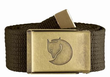 Fjällräven Canvas Brass Belt 38mm Dark Olive