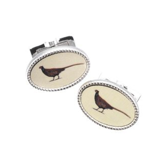 Laksen Enamel Pheasant Manchetknopen