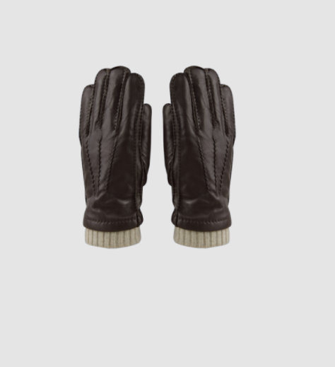 Hatland Thalys Leather Glove Brown
