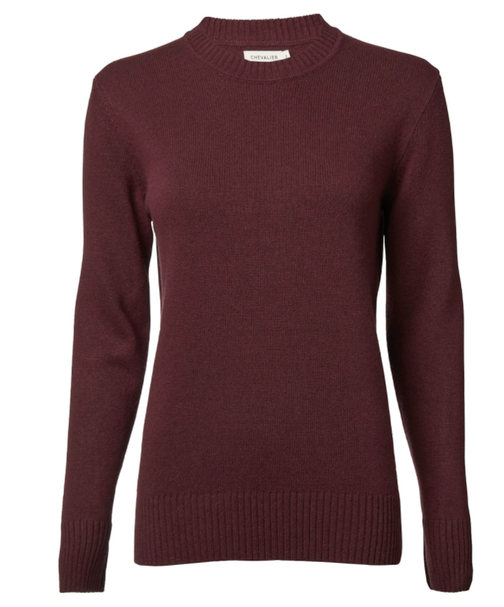 Chevalier Clouds Sweater Women Wine Red