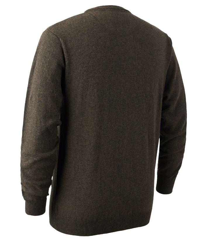 Brighton Knit O-neck Sweater Dark Elm
