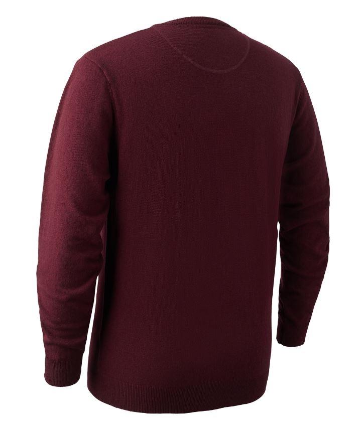 Brighton knit O-neck Sweater Red Melange