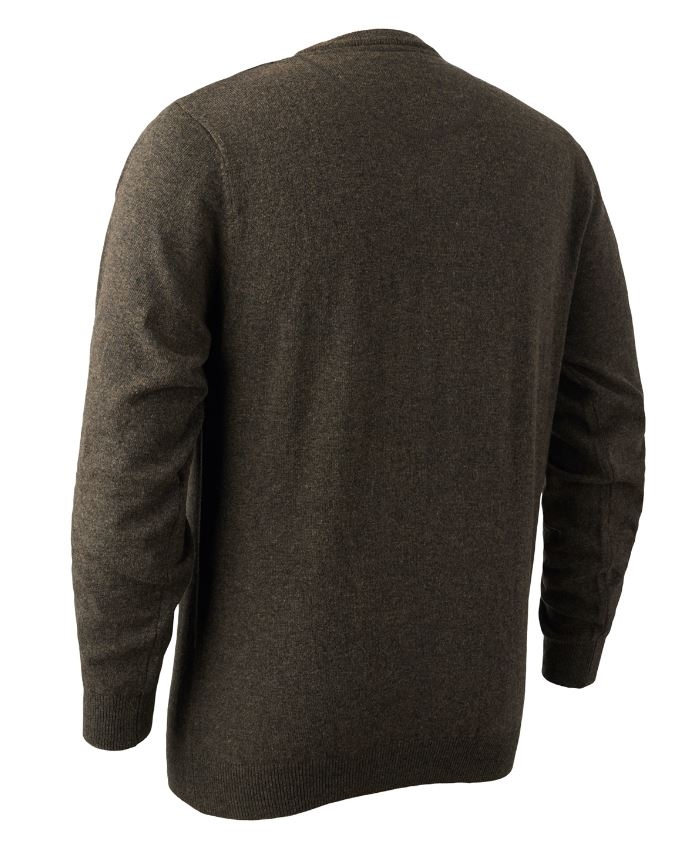 Brighton Knit V-neck Sweater Dark Elm