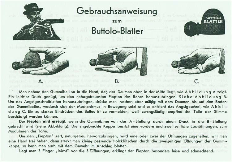 Buttolo®  Blatter Ree-Fiep