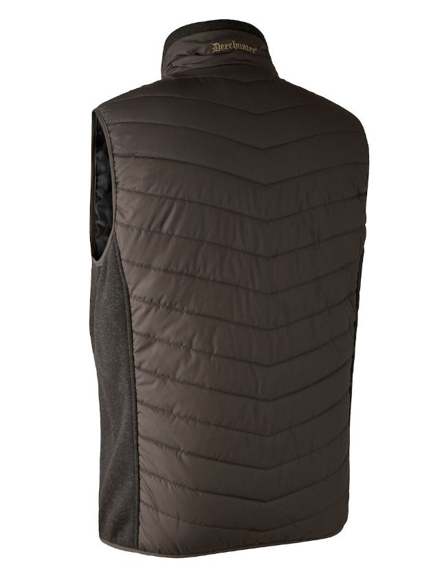 Deerhunter Moor Padded Waistcoat w. Knit Brown Leaf
