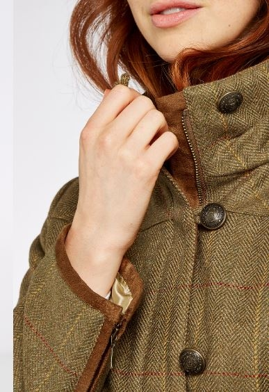 Dubarry Bracken Tweed Jacket Elm