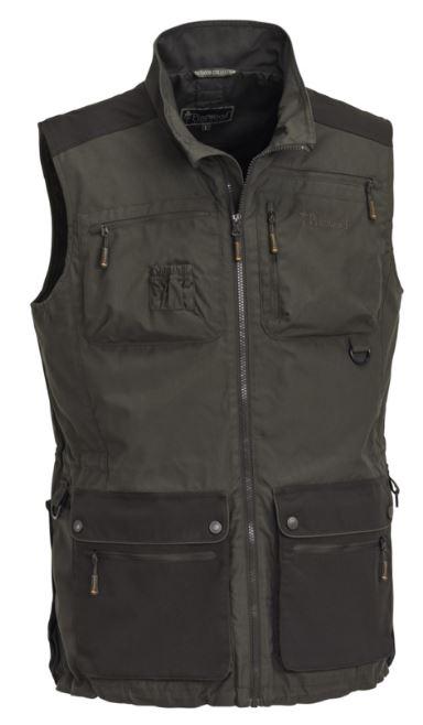 Pinewood Dog Sports Vest D.Olive/Suede Brown