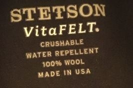 Stetson Rocklin Vitafelt Vilthoed