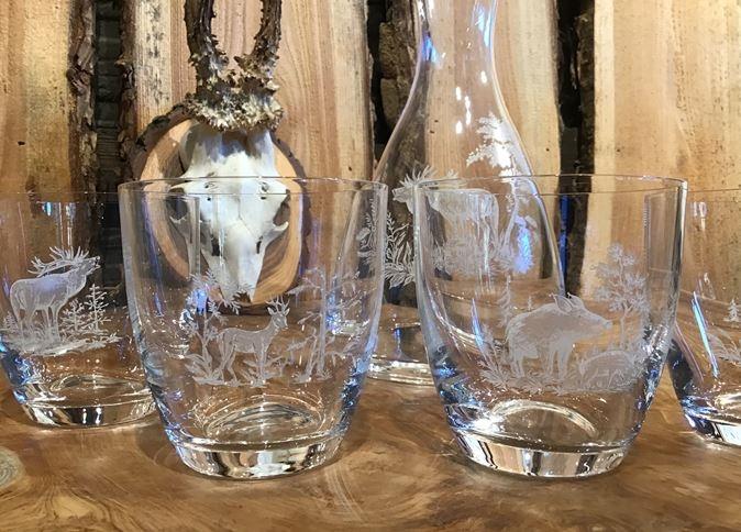 Waterkaraf met 4 glazen