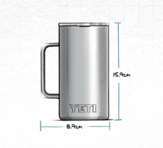 Yeti Rambler Mug 709ML Highlands Olive