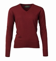 Laksen Essex V-Neck Sweater Bordeaux