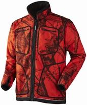 Härkila Kalmar Fleece jacket Red/Shadow Brown